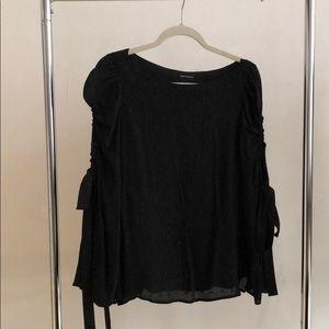 Club Monaco black long sleeved blouse